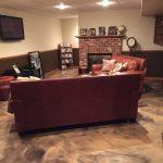 Metallic Marble Concrete Basement Flooring