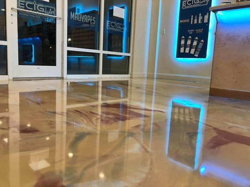Metallic Marble Epoxy Decorative Concrete Floor