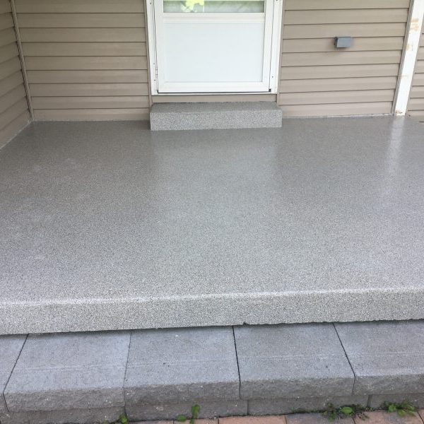 Epoxy Flake Home Porch